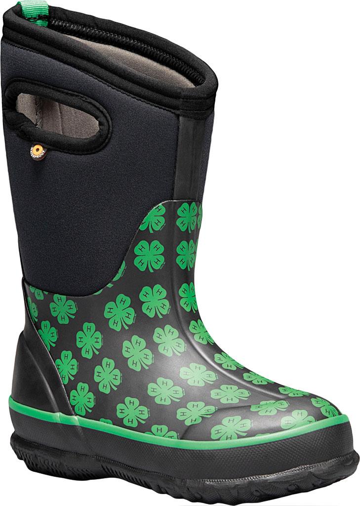 Children's Bogs Classic 4-H Waterproof Rain Boot, Black Multi Rubber/Textile, large, image 1