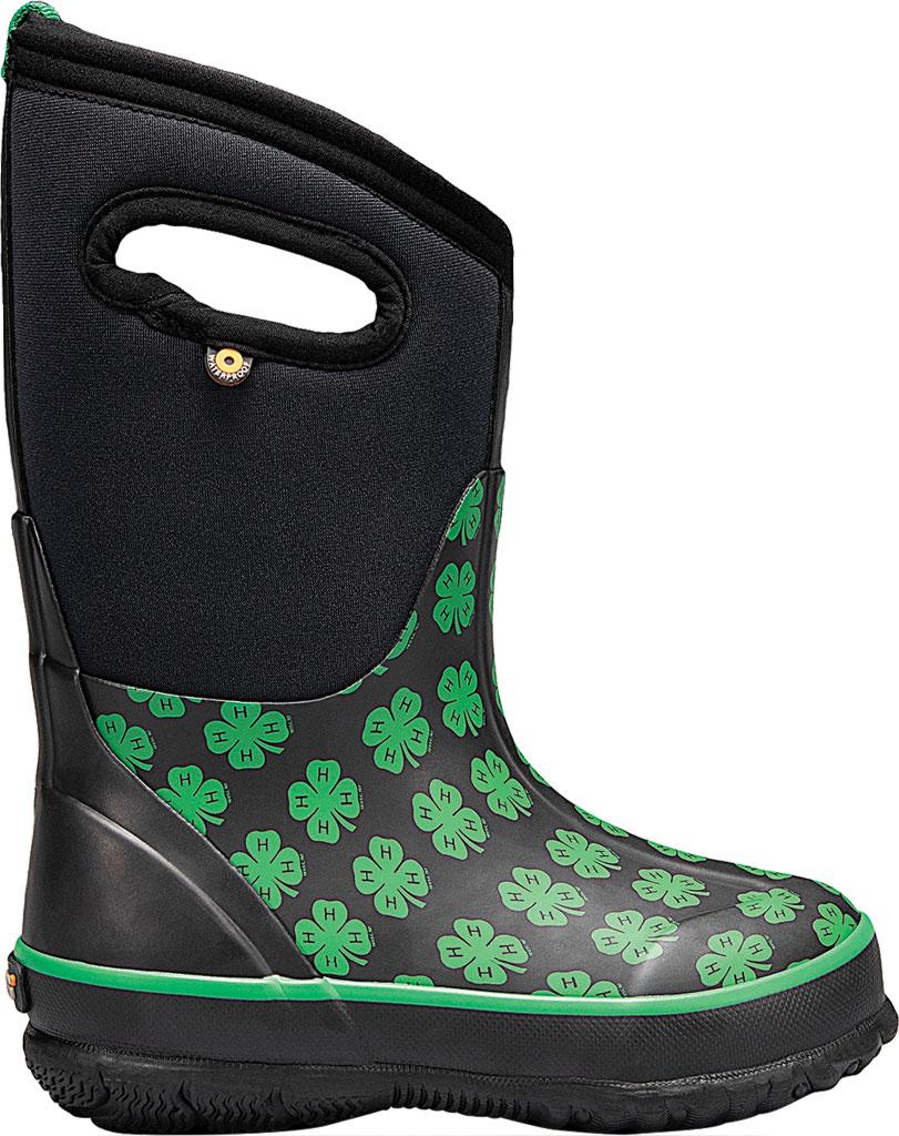 Children's Bogs Classic 4-H Waterproof Rain Boot, Black Multi Rubber/Textile, large, image 2