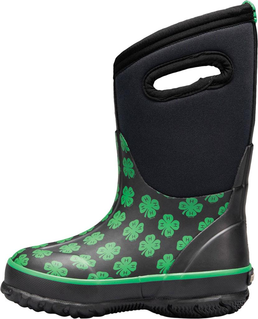 Children's Bogs Classic 4-H Waterproof Rain Boot, Black Multi Rubber/Textile, large, image 3