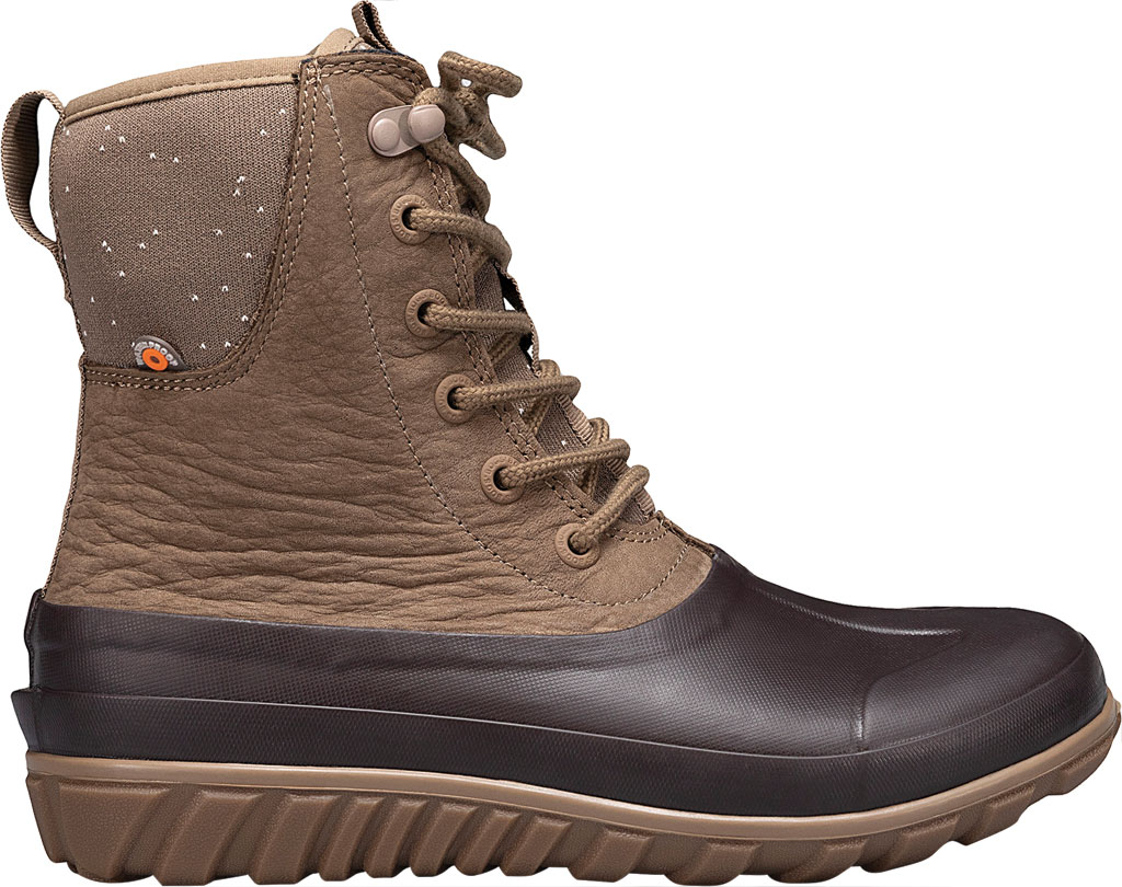 Women's Bogs Classic Casual Tall Lace Leather Waterproof Boot, Tan Rubber/Leather, large, image 2