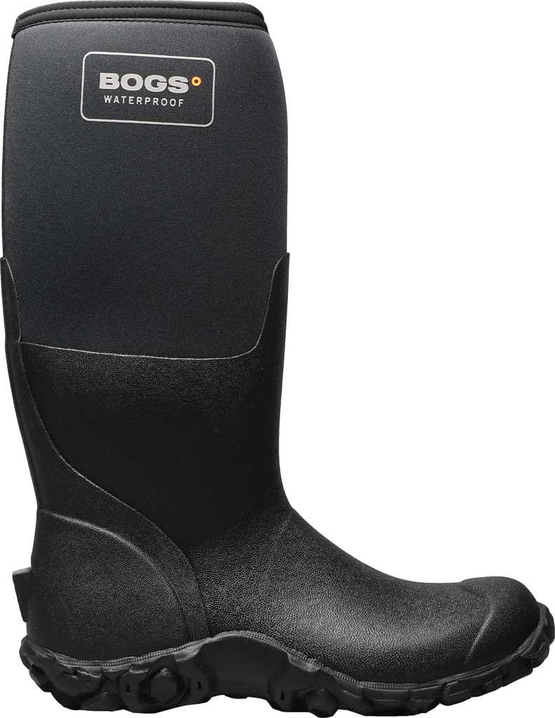 Men's Bogs Mesa Waterproof Rain Boot, Black Rubber/Textile, large, image 2