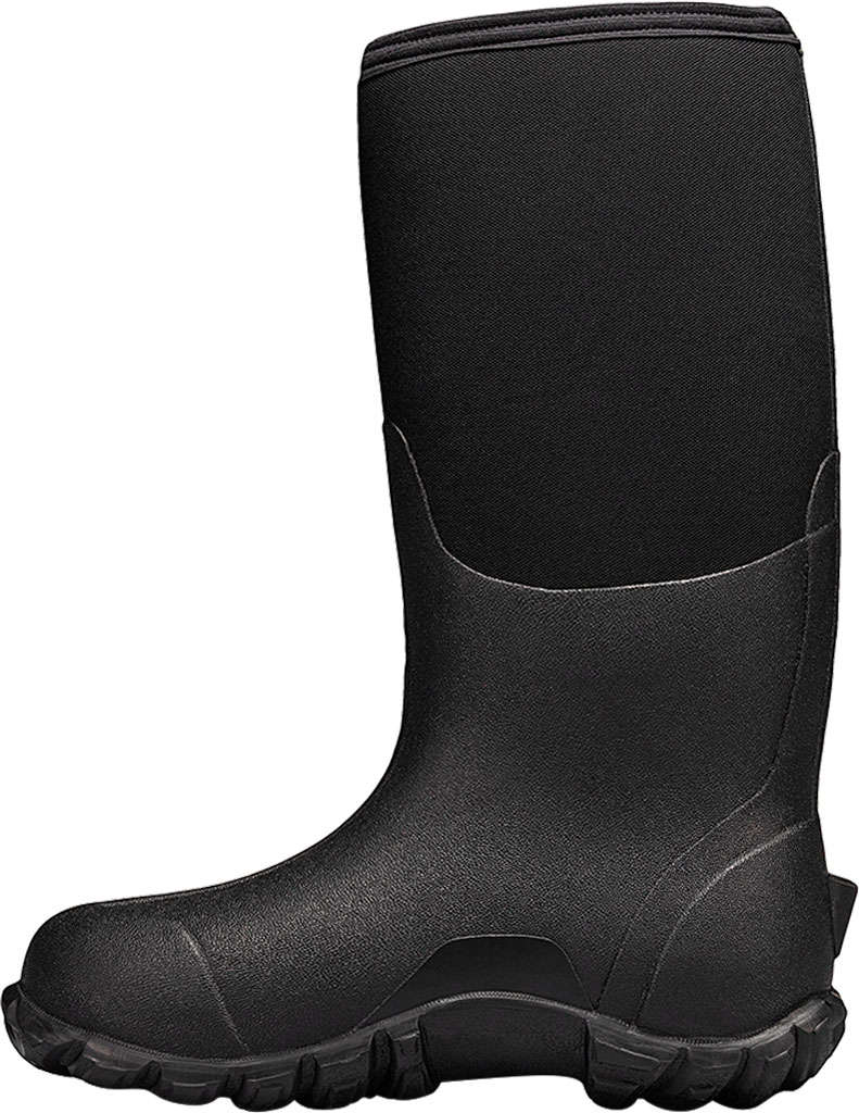 Men's Bogs Classic Tall 4-H Waterproof Rain Boot, Black Rubber/Textile, large, image 3