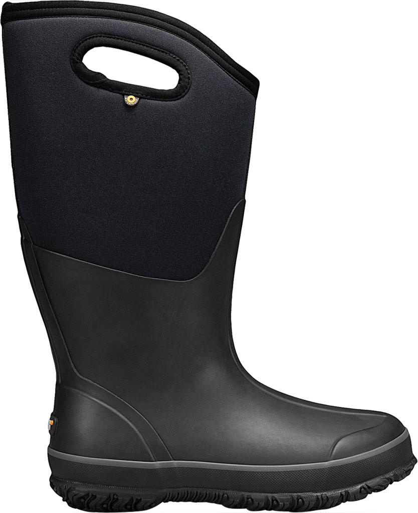 Women's Bogs Classic Tall Wide Calf Waterproof Rain Boot, Black Rubber Textile, large, image 2
