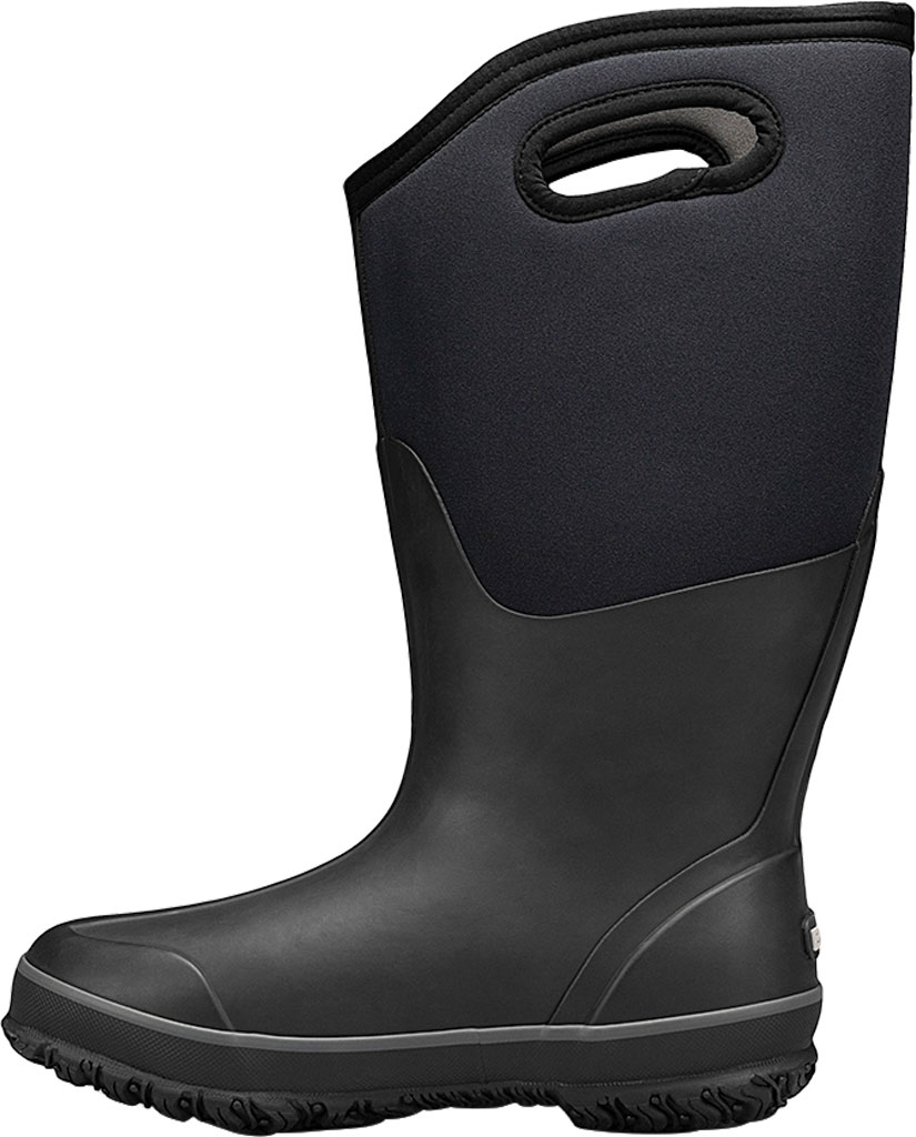 Women's Bogs Classic Tall Wide Calf Waterproof Rain Boot, Black Rubber Textile, large, image 3