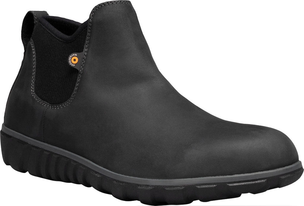 Men's Bogs Classic Casual Chelsea Waterproof Boot, Black Leather, large, image 1