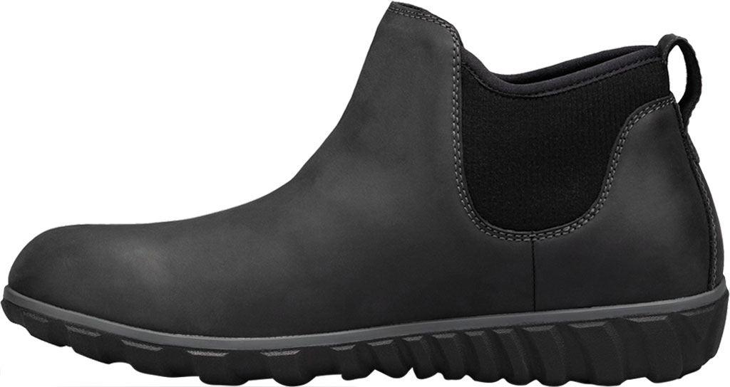 Men's Bogs Classic Casual Chelsea Waterproof Boot, Black Leather, large, image 3