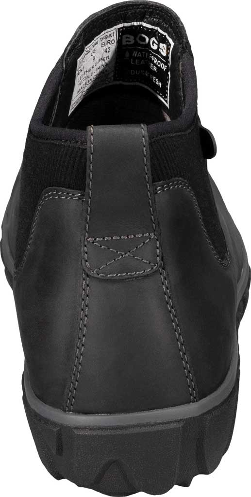 Men's Bogs Classic Casual Chelsea Waterproof Boot, Black Leather, large, image 4