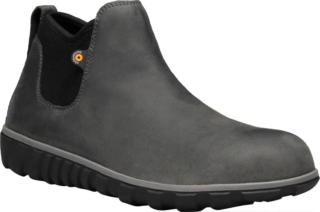 Men's Bogs Classic Casual Chelsea Waterproof Boot, Dark Grey Leather, large, image 1