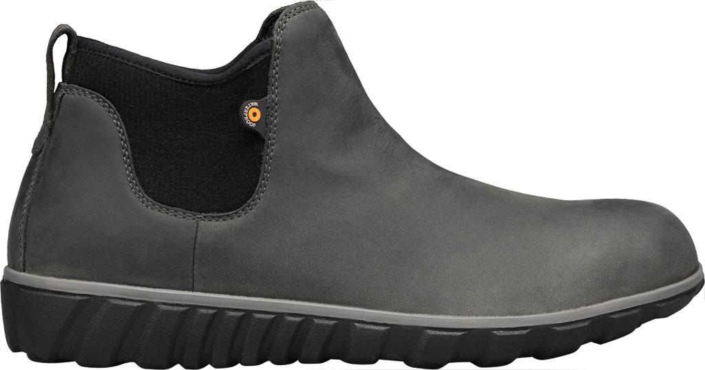Men's Bogs Classic Casual Chelsea Waterproof Boot, Dark Grey Leather, large, image 2
