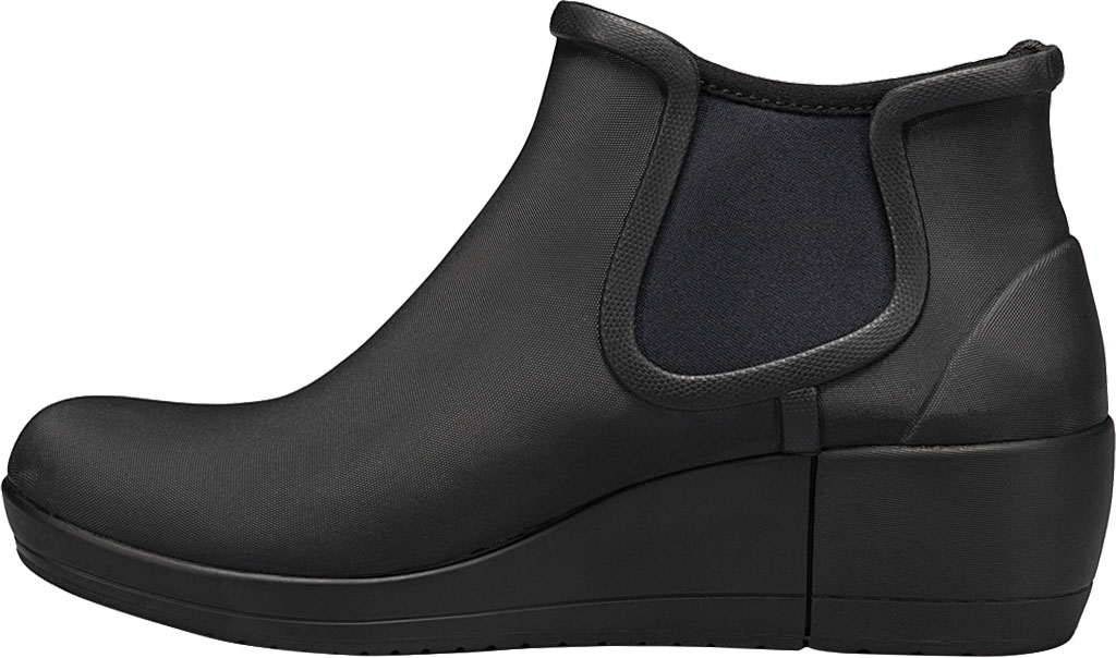 Women's Bogs Vista Wedge Ankle Waterproof Boot, Black Rubber, large, image 3
