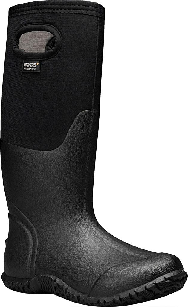 Women's Bogs Mesa Waterproof Rain Boot, Black Solid Rubber/Textile, large, image 1