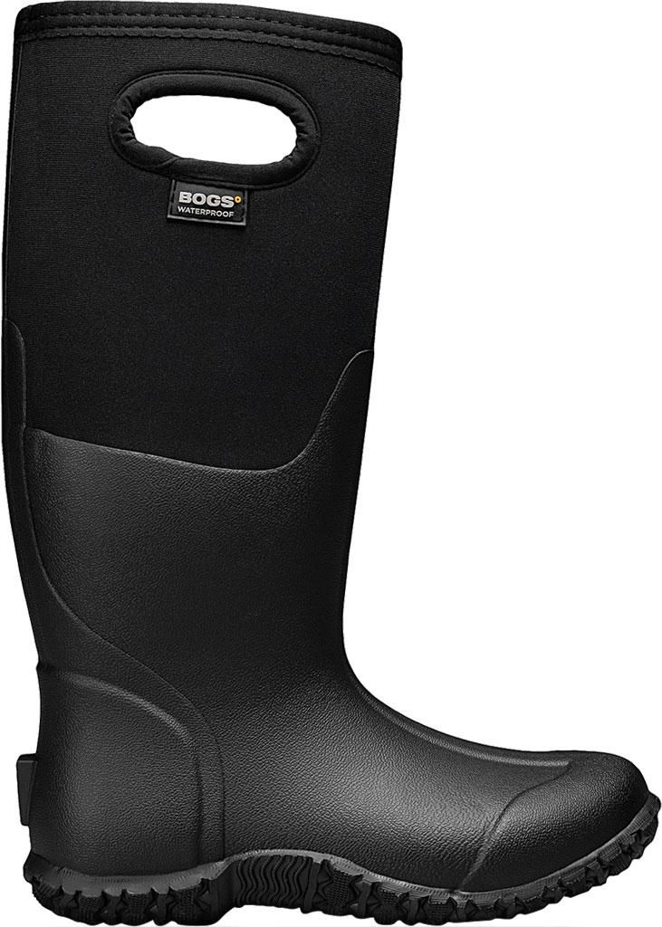 Women's Bogs Mesa Waterproof Rain Boot, Black Solid Rubber/Textile, large, image 2