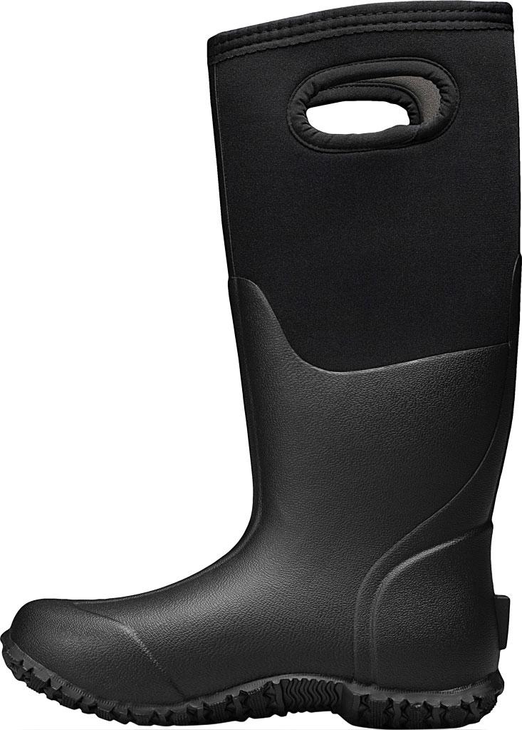 Women's Bogs Mesa Waterproof Rain Boot, Black Solid Rubber/Textile, large, image 3