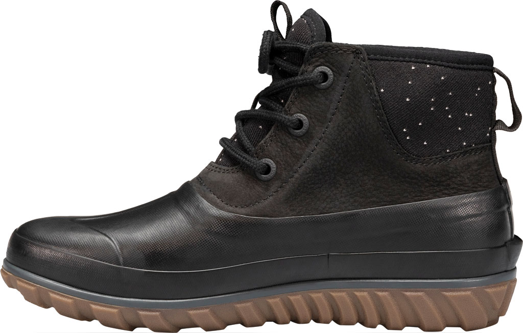Women's Bogs Classic Casual Lace Waterproof Duck Boot, Black Rubber/Leather, large, image 3
