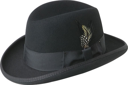 Men's Bailey of Hollywood Godfather 3817, Black, large, image 1