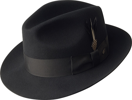 Men's Bailey of Hollywood Gangster 3814, Black, large, image 1