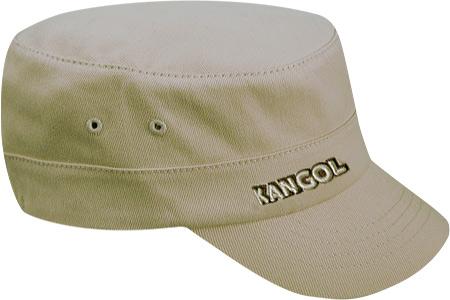 Kangol Cotton Twill Army Cap, Beige, large, image 1