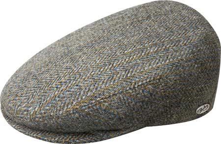 Men's Bailey of Hollywood Lord Stripe Herringbone Flat Cap 25238, , large, image 1