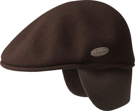 Men's Kangol 504 Wool Earlap Flat Cap, , large, image 1