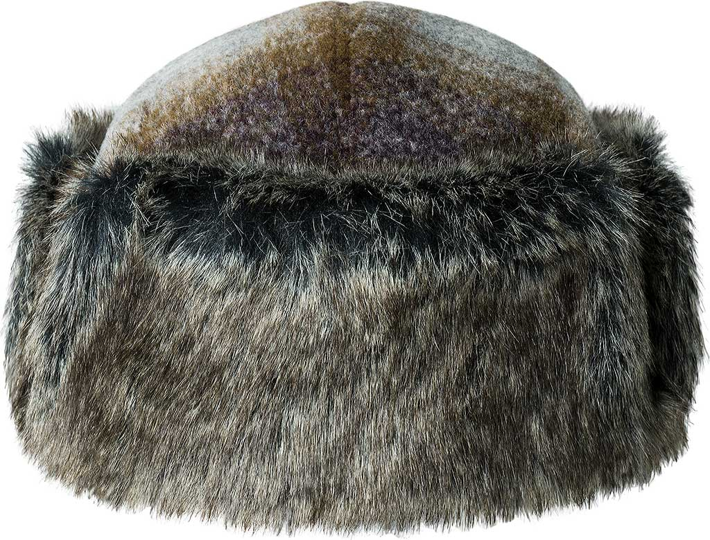 Men's Bailey of Hollywood Roval Trapper Hat 25149, Tobacco Plaid, large, image 1