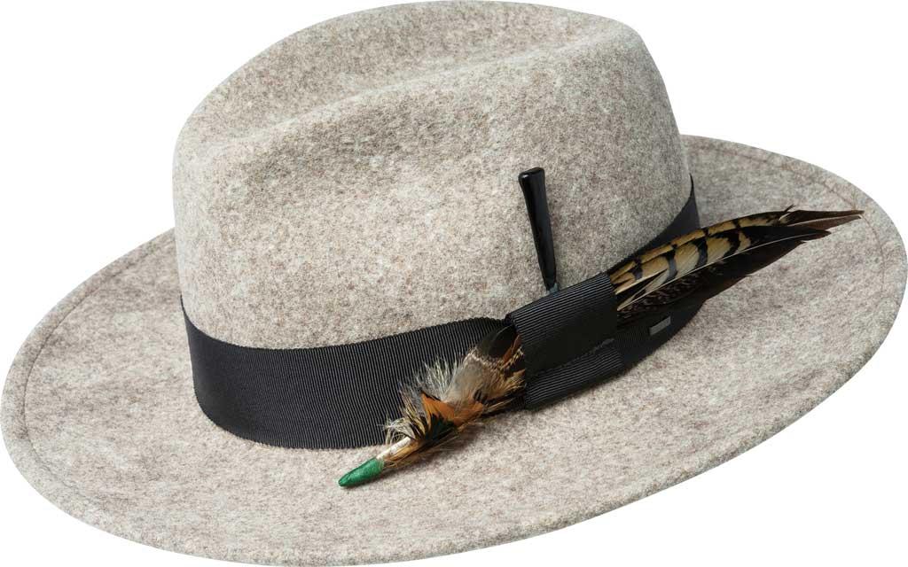 Men's Bailey of Hollywood Burnell Wool Felt Fedora 70653, Natural Mix, large, image 1