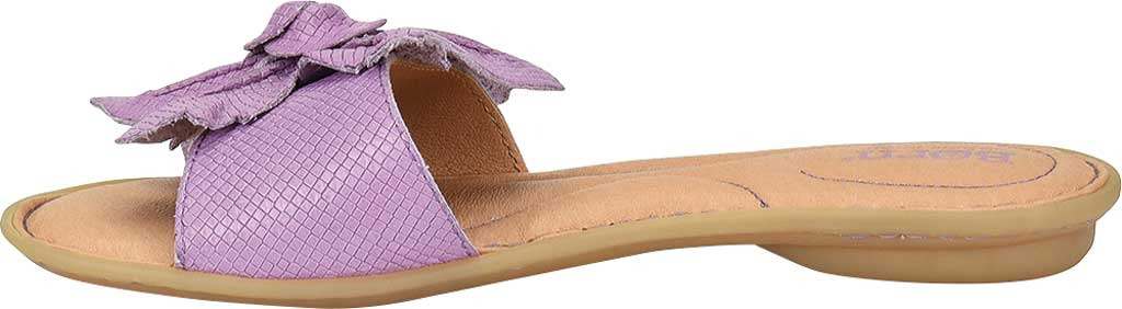 Women's Born Mai Floral Slide, Lilac Embossed Full Grain Leather, large, image 3