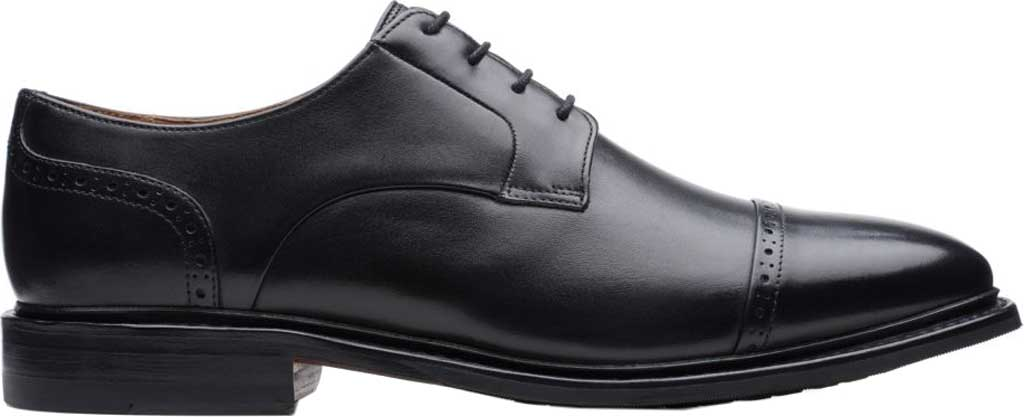 Men's Bostonian Bridgeport Cap Derby Shoe, Black Full Grain Leather, large, image 2