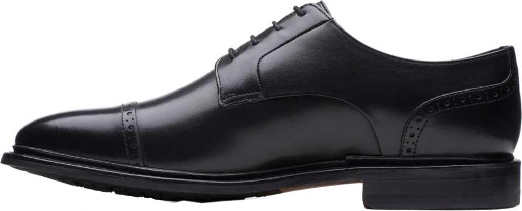 Men's Bostonian Bridgeport Cap Derby Shoe, Black Full Grain Leather, large, image 3