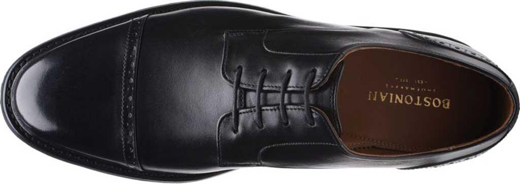 Men's Bostonian Bridgeport Cap Derby Shoe, Black Full Grain Leather, large, image 5