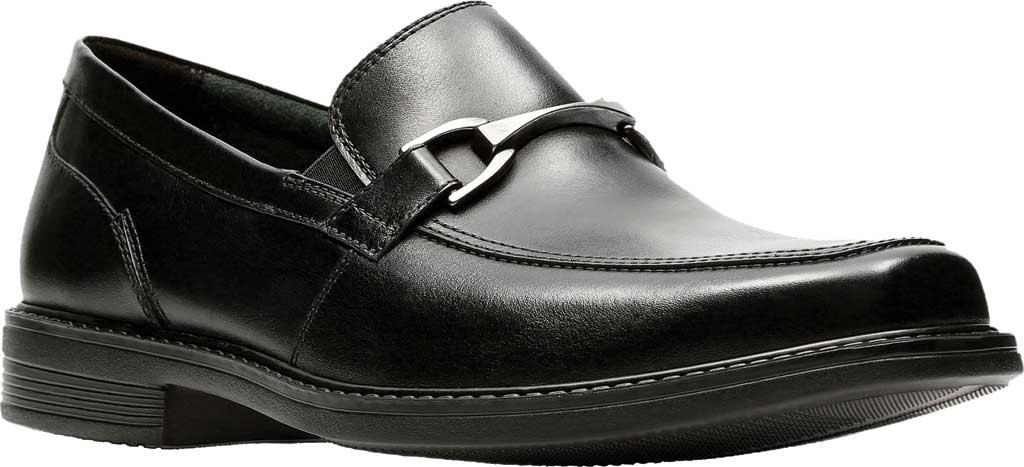 Men's Bostonian Laureate Step Loafer, Black Full Grain Leather, large, image 1