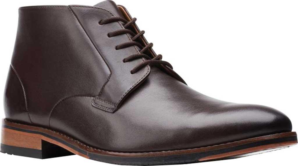 Men's Bostonian Treymore Mid Chukka Boot, Dark Brown Full Grain Leather, large, image 1