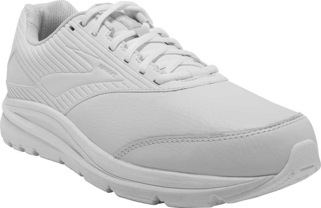 Men's Brooks Addiction Walker 2 Walking Shoe, White/White, large, image 1