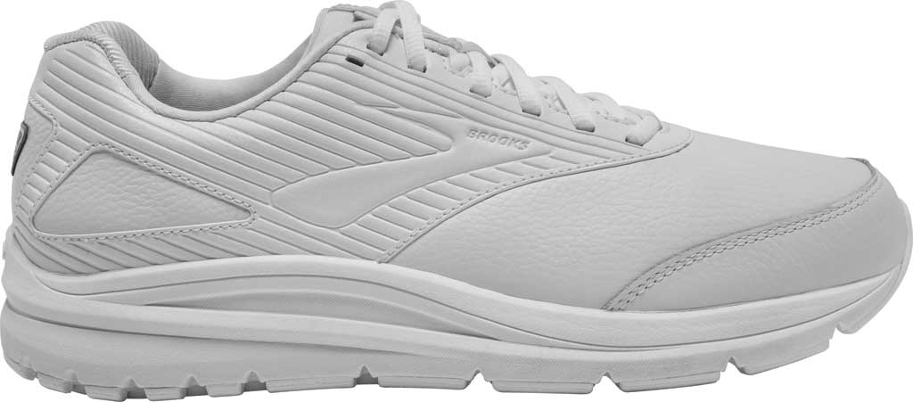 Men's Brooks Addiction Walker 2 Walking Shoe, White/White, large, image 2