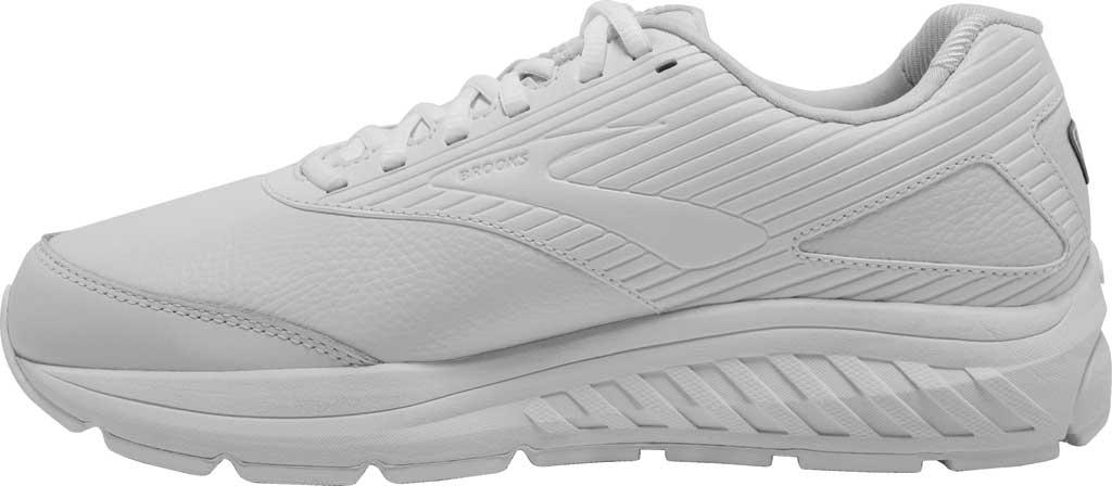 Men's Brooks Addiction Walker 2 Walking Shoe, White/White, large, image 3