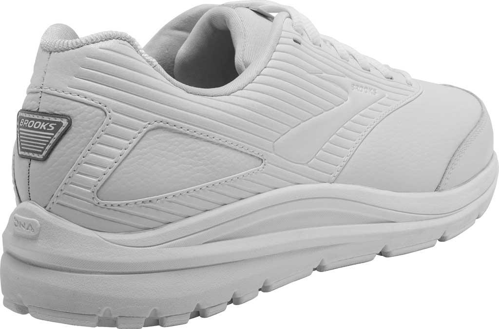 Men's Brooks Addiction Walker 2 Walking Shoe, White/White, large, image 4