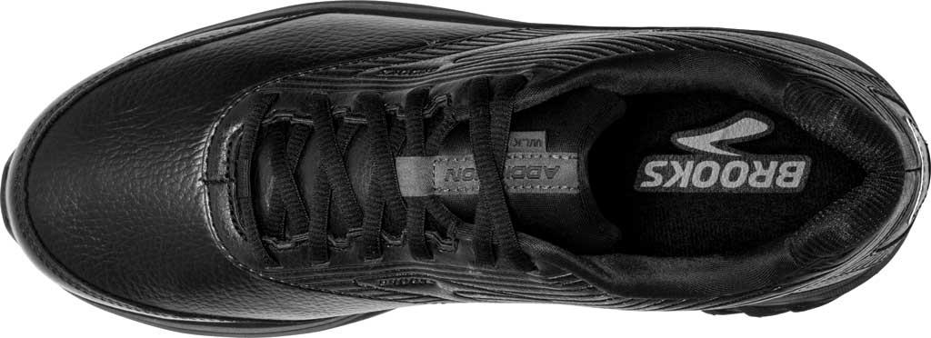 Men's Brooks Addiction Walker 2 Walking Shoe, Black/Black, large, image 5