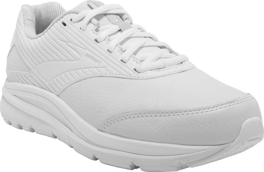 Women's Brooks Addiction Walker 2 Walking Shoe, White/White, large, image 1