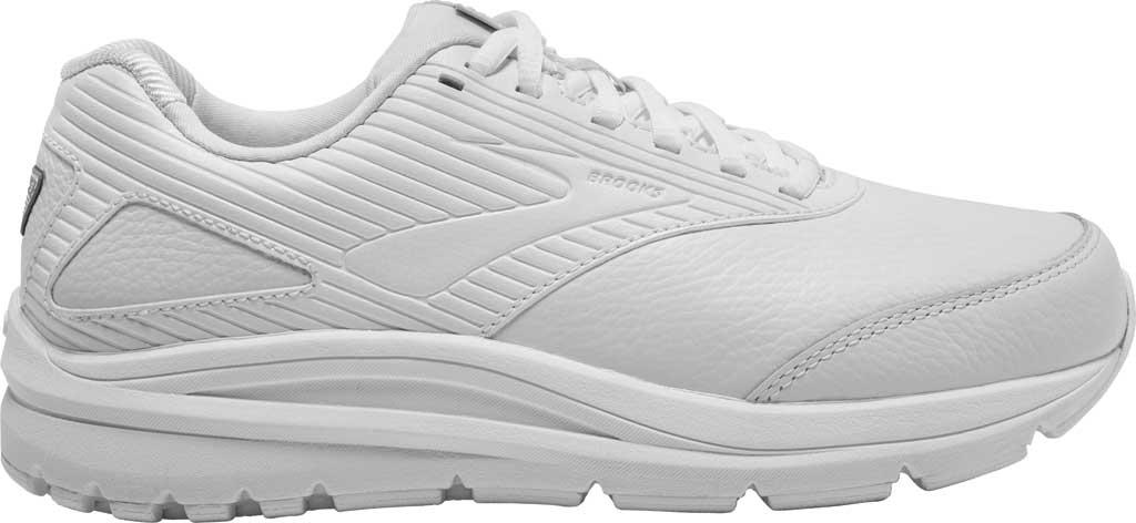 Women's Brooks Addiction Walker 2 Walking Shoe, White/White, large, image 2