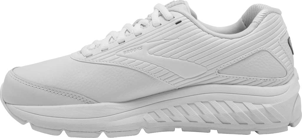 Women's Brooks Addiction Walker 2 Walking Shoe, White/White, large, image 3