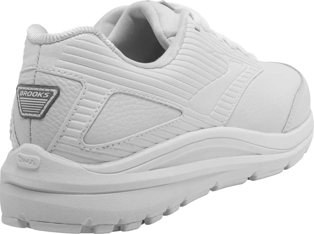 Women's Brooks Addiction Walker 2 Walking Shoe, White/White, large, image 4