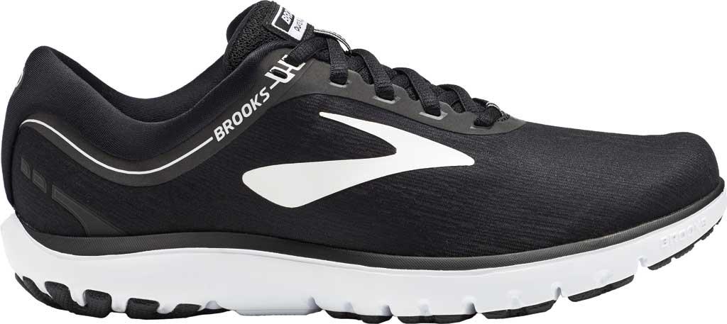 Women's Brooks PureFlow 7 Running Shoe, Black/White, large, image 2