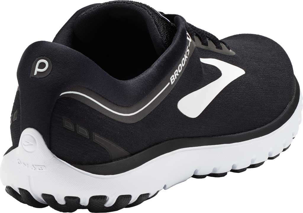 Women's Brooks PureFlow 7 Running Shoe, Black/White, large, image 4