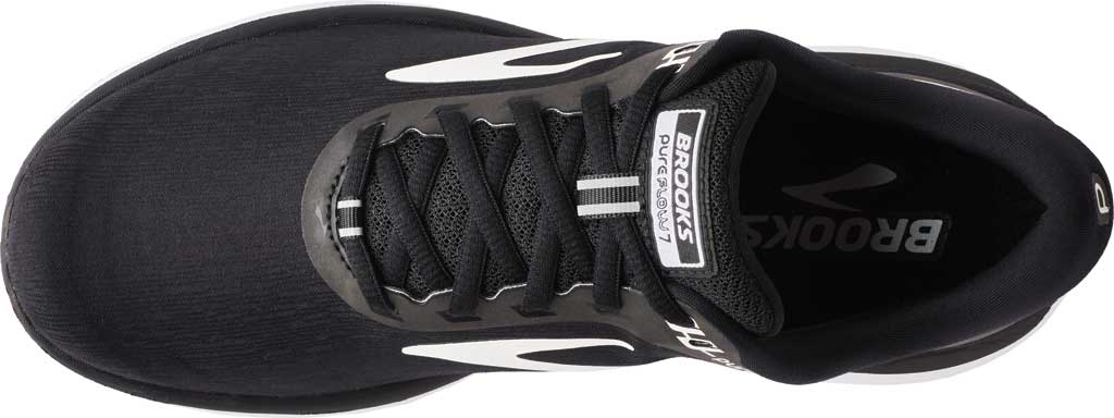 Women's Brooks PureFlow 7 Running Shoe, Black/White, large, image 5