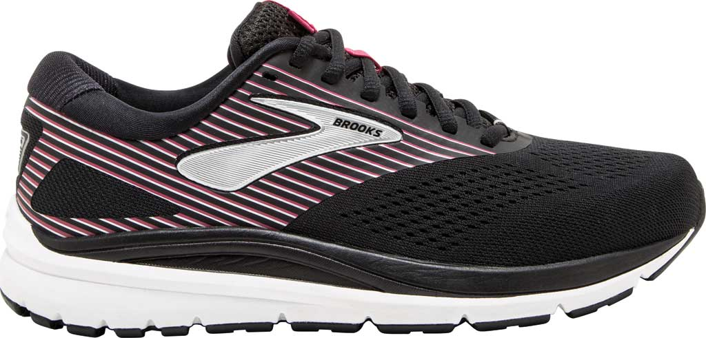 Women's Brooks Addiction 14 Running Shoe, Black/Hot Pink/Silver, large, image 2