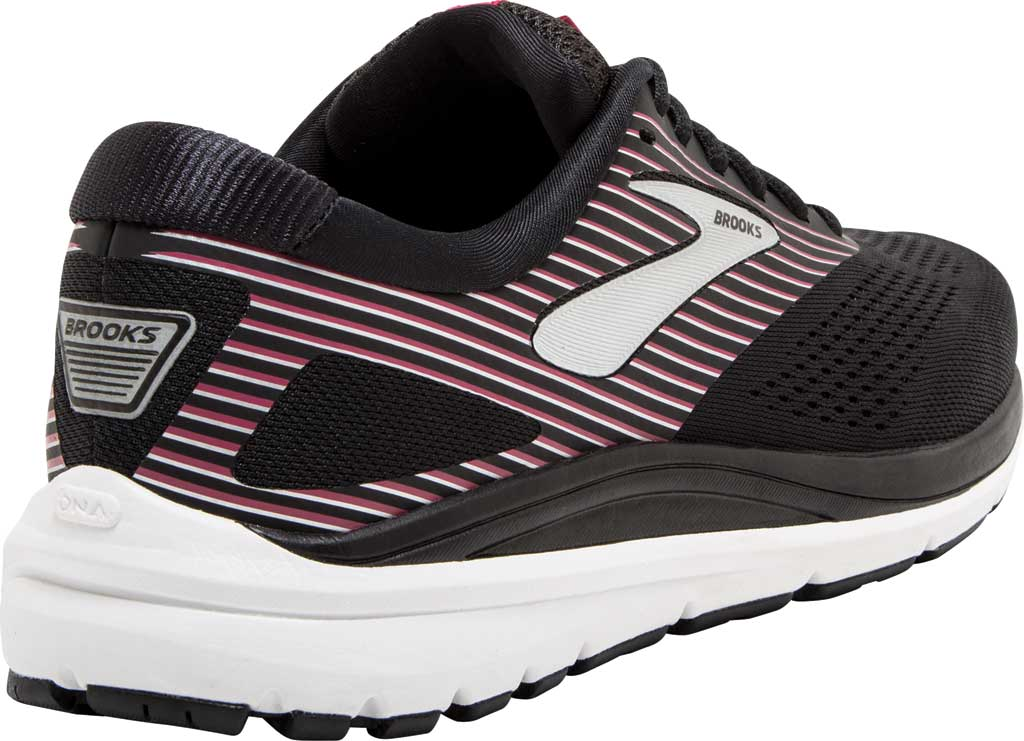Women's Brooks Addiction 14 Running Shoe, Black/Hot Pink/Silver, large, image 4