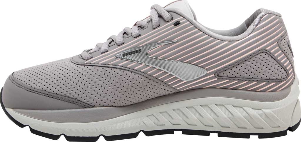 Women's Brooks Addiction Walker Suede Sneaker, Alloy/Oyster/Peach, large, image 3