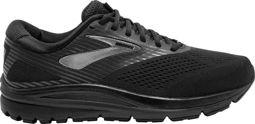 Men's Brooks Addiction 14 Running Shoe, Black/Charcoal/Black, large, image 2