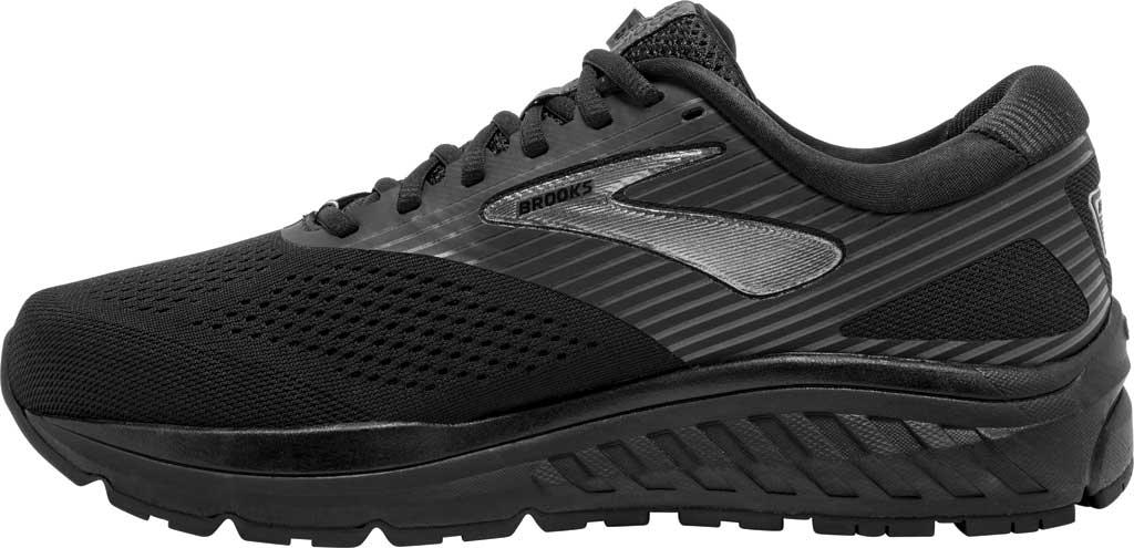 Men's Brooks Addiction 14 Running Shoe, Black/Charcoal/Black, large, image 3