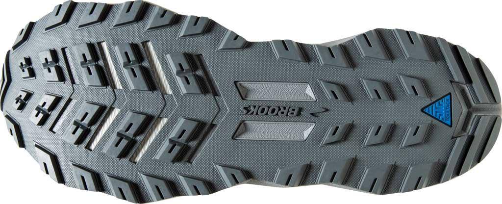 Women's Brooks Divide Trail Running Shoe, Grey/Turbulence/Green, large, image 6