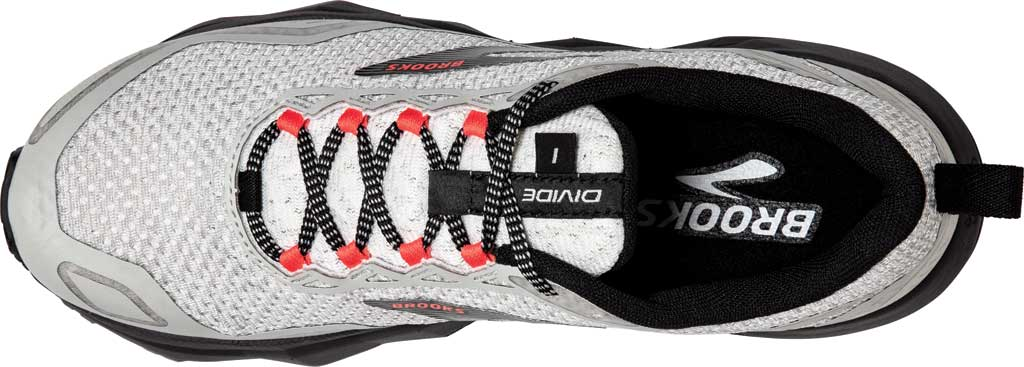 Women's Brooks Divide Trail Running Shoe, White/Grey/Fiery Coral, large, image 5